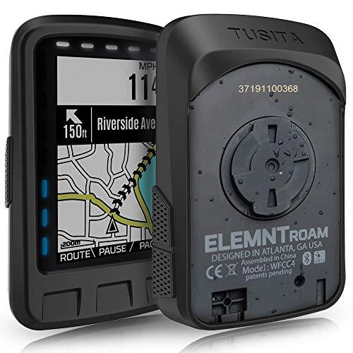TUSITA Hülle für Wahoo Elemnt ROAM - Silikon Schutzhülle Skin - GPS Bike Computer Zubehör