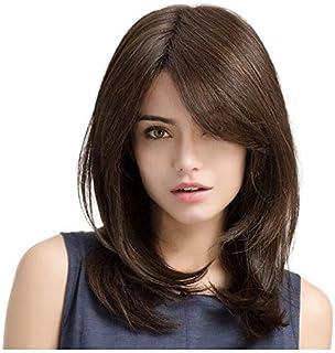 شعر مستعار خلاب وطويل ومستقيم للاستخدام اليومي للنساء طبيعي وصحي 20 انش بني
