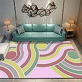 Decoracion De Salones Cojines Grandes para Suelo Alfombras Coloridas, tapetes para el hogar del Dormitorio, Lavables a máquina, insonorizadas 160X200cm