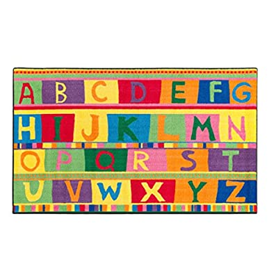 Flagship Carpets ABC Tapestry, Easy Cost Easy Care Washable Collection, Children's Classroom Educational Carpet
