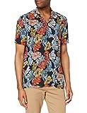 find. Camisa Hawaiana de Manga Corta Hombre, Azul (hawaiano), M, Label: M