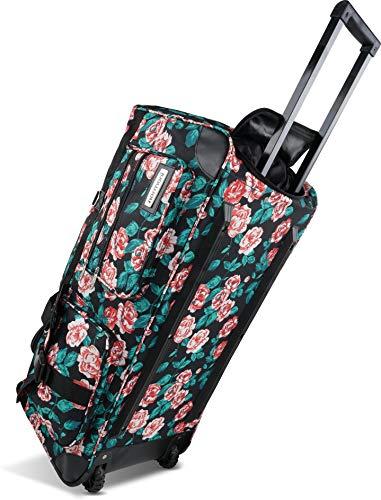 normani Reisetasche Jumbo Big-Travel mit Rollen riesige XXL Farbe Royal Rose - 100 Liter