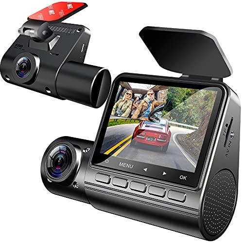 YDI Cámara de Coche Dash CAM Lente Dual FHD 1080P Frontal e Interior Gran Angular con Monitoreo de Estacionamiento, Detección de Movimiento, Sensor G, WDR y Visión Nocturna por Infrarrojos