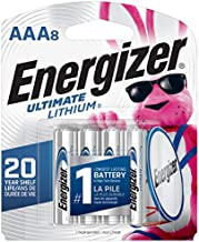 Energizer AAA Lithium Batteries, Ultimate Lithium Triple A Battery (8 Count), Longest-Lasting AAA Battery