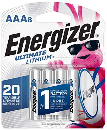 Energizer AAA Lithium Batteries, Ultimate Lithium Triple A Battery (8 Count), Longest-Lasting AAA Battery - Packaging May Vary