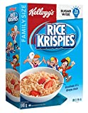 Kellogg's Rice Krispies Cereal Original, Family Size, 640g, Original Rice Flavour, 640 Grams