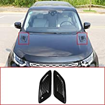CHEYA for Discovery Sport,Land Rover Discovery 4/5,Freelander 2,Range Rover evoque Car Accessories Exterior Decoration ABS Glossy Black Engine Hood Air Outlet Vent Cover Trim