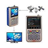 GT MEDIA V8 Satellite Finder Meter TV DVB-S/S2/S2X Signal Receiver H.264 Sat Detector, HD 1080P Free to Air FTA 3.5' LCD...