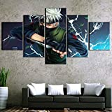 SBZJJ 5 Piezas Lienzo Pinturas Naruto Cuadros imágenes Cartel Pared Arte decoración Pinturas-S