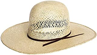 rodeo king open crown straw hats
