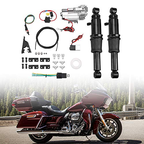 Rear Air Adjustable Ride Suspension Kit for Touring Electra Glide Street Road Glide Road King 1994-2019 2020