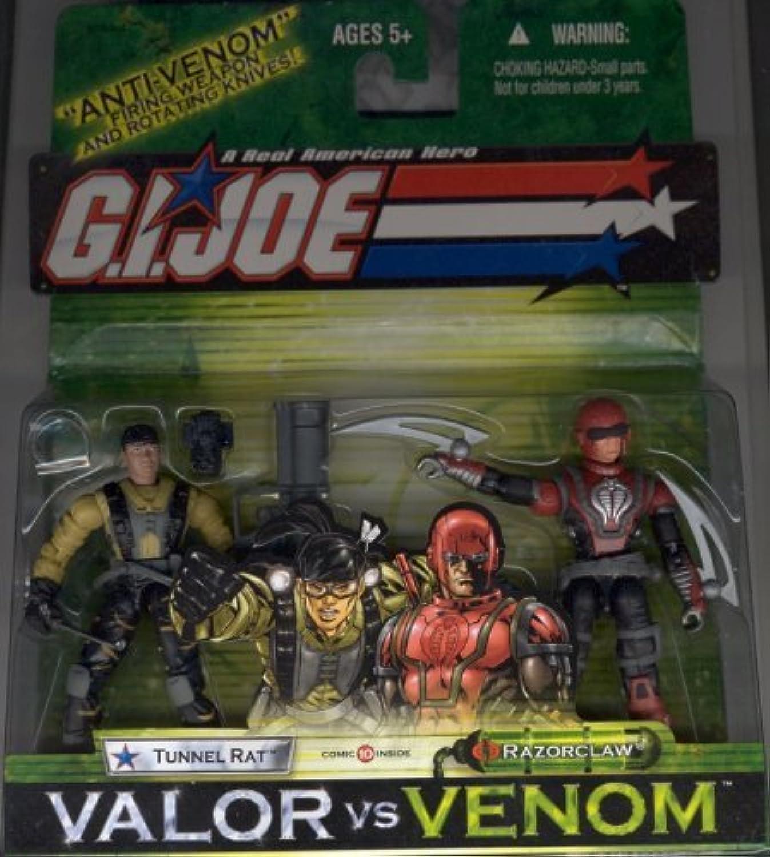 GI Joe Valor Vs. Venom 3.75 TUNNEL RAT VS. RAZORCLAW Figure 2Pack by G. I. Joe