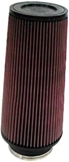 K&N Universal Clamp-On Engine Air Filter: Washable and Reusable: Round Tapered; 4 in (102 mm) Flange ID; 9 in (229 mm) Height; 6 in (152 mm) Base; 4.625 in (117 mm) Top , RE-0870