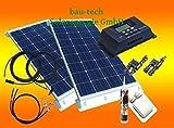 BAU-TECH Solarenergie 200 Watt WoMo Komplettpaket