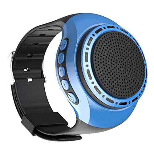 Q&N Sport Portatile indossabile Orologio con Altoparlante Bluetooth con Lettore MP3 Radio FM Selfie Tempo di Attesa Ultra Lungo Anti-Perso per la Corsa Escursionismo Arrampicata,Blu