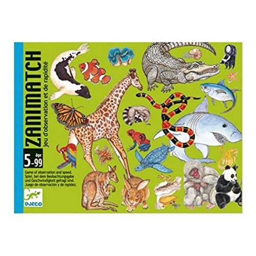 DJECO- Juegos de cartasJuegos de cartasDJECOCartas Zanimatch, Multicolor (36)