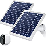 iTODOS Solar Panel Works for Arlo Essential Spotlight Camera, 11.8Ft Outdoor Power Charging Cable and Adjustable Mount,Charger for Essential, Not for Arlo HD Pro Pro2 Pro3(2 Pack,Silver)