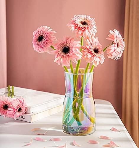 Hey_you Vase en verre transparent, décoratif, en cristal, pour la maison ou le bureau, idéal comme cadeau pour un mariage, une pendaison de crémaillère
