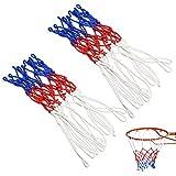 Hrroes 2 Pezzi Rete Canestro Basket Retina Canestro Basket, 12 Anelli, Rete da Basket Per Gli Sport All'Aria Aperta