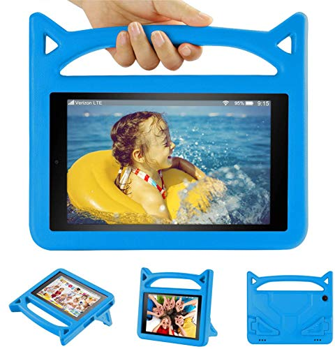 10 inch Tablet Case for Kids 2019-Auorld Shock Proof Light Weight Convertible Handle Stand Kids Friendly Case Cover for 10 in Tablet 2019(Blue)