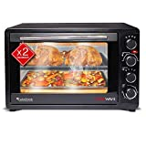 TurboTronic Mini Oven with Double Glazing, Electric Grill Oven, Pizza Oven with Timer Function (45 Litres)