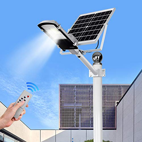 Ultra Potente Farolas Solares Exterior,Impermeable IP65 LED Luz Solar 40W~400W,con Soporte Ajustable Y Control Remoto Solar Security Lights Para Calle,patio,jardín Etc. (1 Pack),40W/3600~4000lm