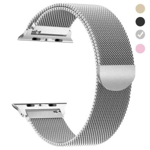 NA Milanese Loop Strap Watch Band for Apple Watch Series 1/2/3/4 38MM/40MM/42MM/44M Silver 38/40mm