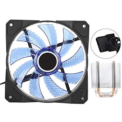Enfriador de CPU Ultra Silence 4 Ventilador de Tubo de Calor de latón Sistema de enfriamiento de computadora de enfriamiento de PC 1366 Ventilador de disipador de Calor de CPU Ventilador(Azul)