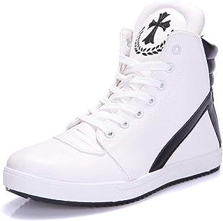 [Rayiisuy] メンズ 7cm身長アップ 背が高くなるシークレット シークレットブーツ 厚底 スニーカー ハイカット メンズ ダンス ステルスシークレット 通気性 歩く靴 アンチスリップ ユニセックス
