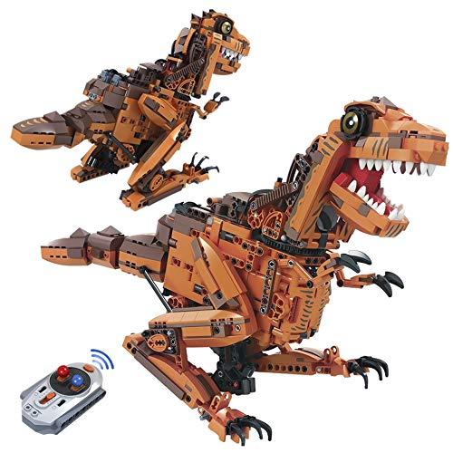 CELMAN RC Technik Bausteine Dinosaurier T-Rex mit Power Funktion |Ferngesteuerter mit Sound | 2.4Ghz | 1092 Teile
