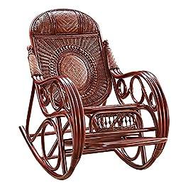 Chaise À Bascule en Osier D'extérieur, Fauteuil en Rotin Nap Design Ergonomique, Chaise Longue De Balcon Confortable Et…