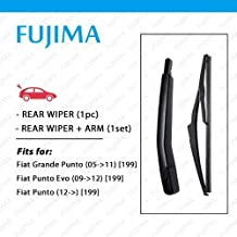 Wipers Hukcus Rear Wiper Blade and Arm for Fiat Grande Punto/Punto Evo/Punto 199 Back Window Windscreen Grand Punto Rear Wiper Arm - (Item Length: Rear wiper, Color: Punto 199)