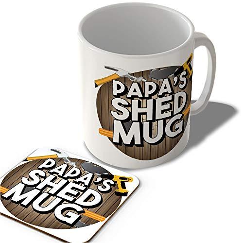 McMug Papa's Shed Mug (Circle Background) - Mug and Coaster Set