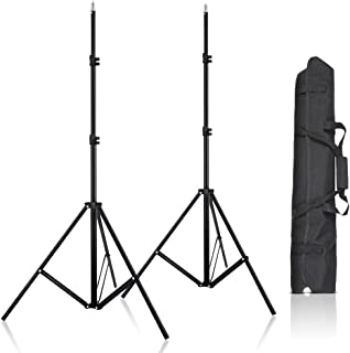 2pcs 80inch Adjustable Aluminium Alloy Light Stands with Carrying Bag for HTC Vive VR, Video, Portrait and Product Photogr...