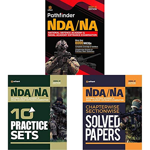 Pathfinder NDA/NA National Defence Academy & Naval Academy Chapterwise & Sectionwise Solved Paper and 10 Practice in English (Set of 3 books)(New Edition)