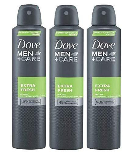 Dove Men Extra Fresh Antiperspirant Deodorant 48h Spray 150 ml / 5 fl oz (3 Pack)