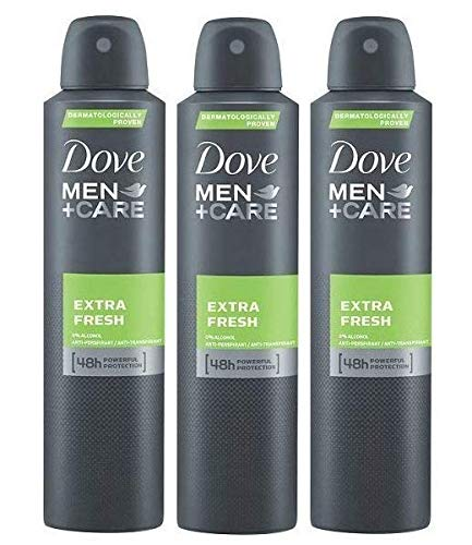 Dove Men Extra Fresh Antiperspirant Deodorant 48h Spray 150 ml / 5 fl oz (3 Pack)