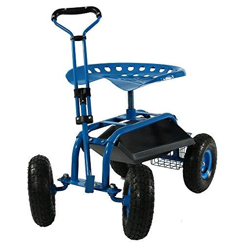 Sunnydaze Garden Cart Rolling Scooter