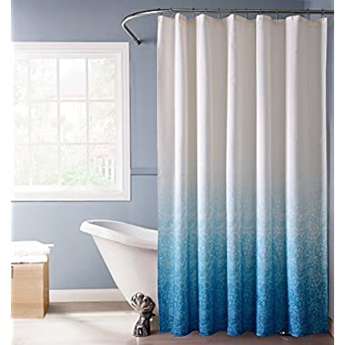 Dainty Home Lace Ombre Shower Curtain, Blue