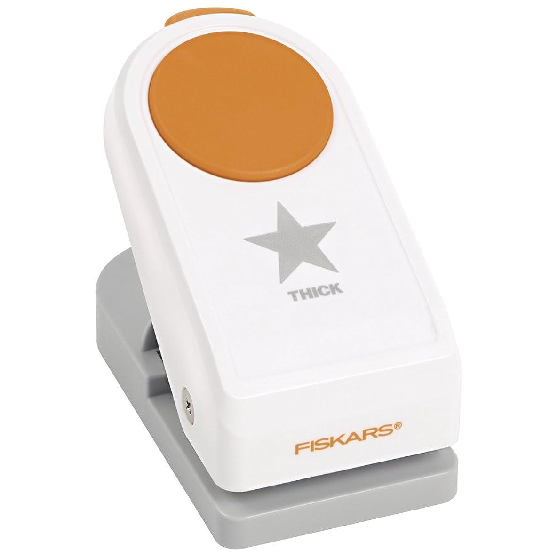 Fiskars Power Punch L - Star, ? 3.8 cm, for Left- and Right-Handed Use, Quality Steel/Plastic, White/Orange, 1020492