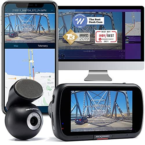 Nextbase 522GW Dash Cam Front and Rear Camera- 1440P/30fps QUAD HD- WiFi Bluetooth- Built-in Alexa- GPS Emergency Response- In Car 280° / 360 Dual Dash Cam Rear Window 6 Lane Wide Recording