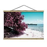Bilderwelten Imagen de Tela - Paradise Beach Isla Mujeres, 66.5cm x 100cm, Roble