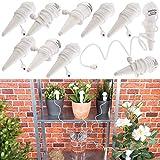 Royal Gardineer Urlaubsbewässerung: 10er-Set Topfpflanzen-Bewässerungs-Systeme mit Tonspitze und Schlauch (Bewässerung Balkon)
