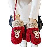 SGSDHandschuhe Kinderweihnachtshandschuhe Circle Elk Kinderhandschuhe Gestrickte Hirschhandschuhe Warme Handschuhe