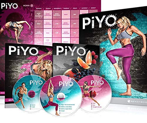 Qspeed PiYo Base Kit Workout DVD with 5 DVDs Exercise Videos & Fitness Tools and Nutrition Guide