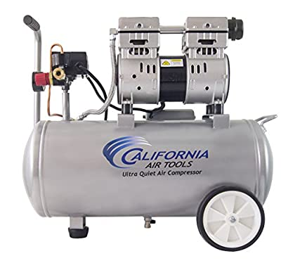 California Air Tools 8010 Ultra Quiet & Oil-Free 1.0 hp Steel Tank Air Compressor, 8 gal, Silver from California Air Tools- Home Improvement