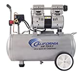 California Air Tools 8010 Steel Tank Air Compressor | Ultra Quiet, Oil-Free, 1.0 hp, 8 gal