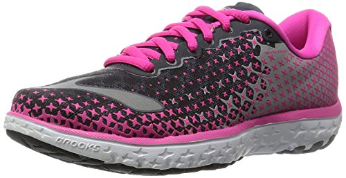 Brooks Pureflow 5 W, Zapatillas de Running para Mujer, Anthracite/Pink Glow/Alloy, 38 1/2 EU