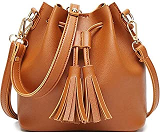 Stylish Brown Shoulder Bag For Women Simple Style Leather Crossbody Bag Chic Ladies HandBag