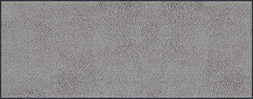 wash+dry Fußmatte Cool Grey, 75x190 cm, innen, waschbar, hellgrau